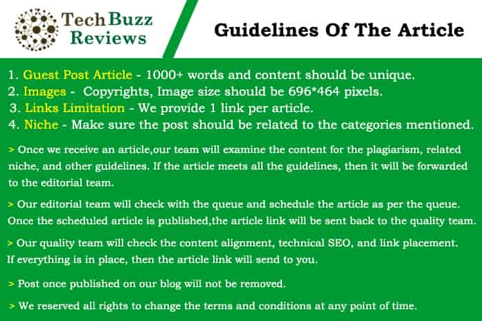 Guidelines - Tech buzz reviews