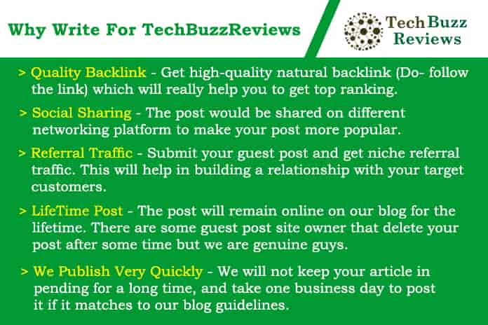 Why write for - techbuzzreviews