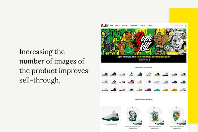 Increasing the number of images of the product improves sell-through-min