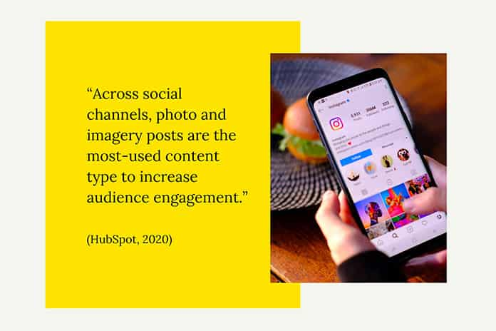 photo and imagery posts are the most-used content type to increase audience engagement-min