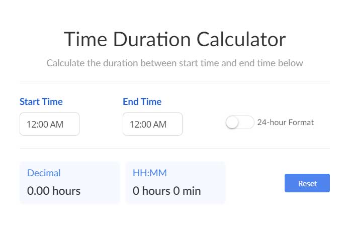 Time-Duration-Calculator